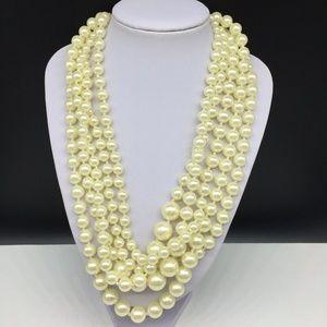 J CREW Faux Pearl Beaded Necklace JCREW